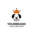 king dog logo design concept dog crown logo vector image