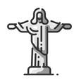 landmark jesus christ vector image