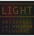 Light letter set vector image vector image
