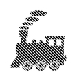 Locomotive sign on white vector image vector image