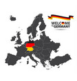 map of europe with the state of germany vector image