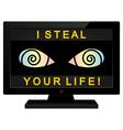Media as a thief vector image