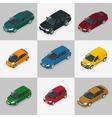Modern Car Car icons Flat 3d isometric vector image vector image