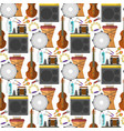 music production seamless pattern background vector image vector image