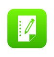 notebook icon digital green vector image