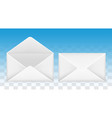 open and close mail envelope icon vector image