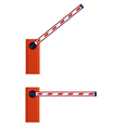 Orange automatic barrier vector image vector image