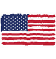 pixelated flag of the united states of america vector image vector image
