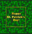 polygonal three-leaved clover st patricks day vector image