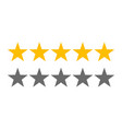 rating stars 5 rate review web ranking star vector image vector image