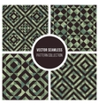 Seamless Green Truchet Geometric Pattern vector image