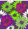 Seamless texture with bright flowers vector image