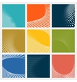 set dotted abstract forms vector image vector image