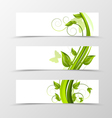 Set of header banner natural design vector image vector image