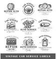 set of vintage car service labels vector image