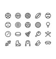 sports equipment line icon vector image vector image