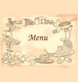 template different types breakfast item for vector image vector image