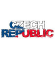 text czech republic with national flag under it vector image vector image