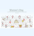 thin line women day poster banner template vector image vector image