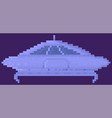 unidentified flying object in outer space vector image
