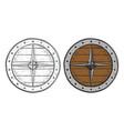 viking round shield hand drawn sketch vector image vector image