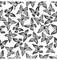 Vintage ornamental butterflies seamless pattern vector image