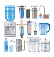 water filter filtering clean drink in vector image