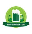 happy st patricks day label banner badge vector image