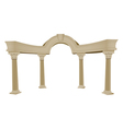 Greek arch column vector image