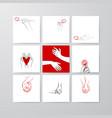 set postcard templates drawn sketch vector image