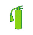 fire extinguisher sign lemon scribble vector image