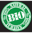 100 percent natural bio grunge stamp vector image vector image