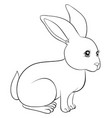 a children coloring bookpage a cute rabbit image vector image vector image