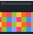 abstract aquares and color Design vector image