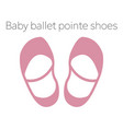 baballet pointe shoes vector image vector image