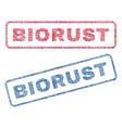 biorust textile stamps vector image vector image