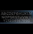 bone font made out of transparent bones vector image