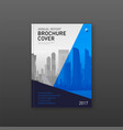 Brochure cover design template for finance