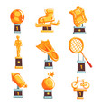 cartoon golden trophy cups awards and vector image vector image