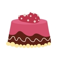 Chocolate cream birthday cake topped pie isolated vector image vector image