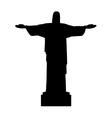 christ redeemer statue vector image vector image