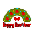 christmas holly wreath happy new year vector image vector image