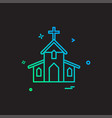 church christian holey cross icon design vector image