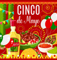 cinco de mayo mexican fiesta greeting card vector image vector image