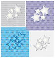 Collection of star backgrounds vector image vector image