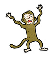 comic cartoon frightened monkey vector image vector image