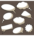 comics speech bubbles vector image vector image