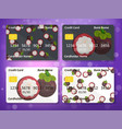 credit card design with sweet mangosteen vector image vector image
