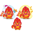 Cute Rooster for the Chinese New Year vector image vector image