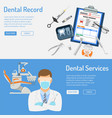 dental services horizontal banners vector image
